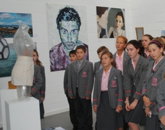 West Hill Park pupils view Bedales exhibits