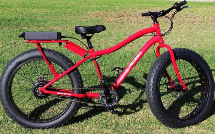 Pedego's Destroyer comes in flame red, neon yellow and green camouflage.