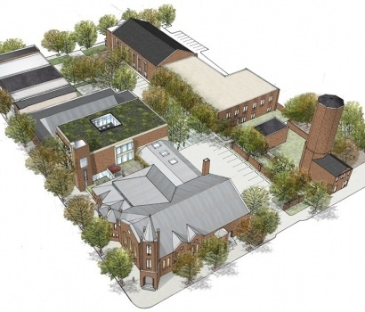 Rendering of new church campus