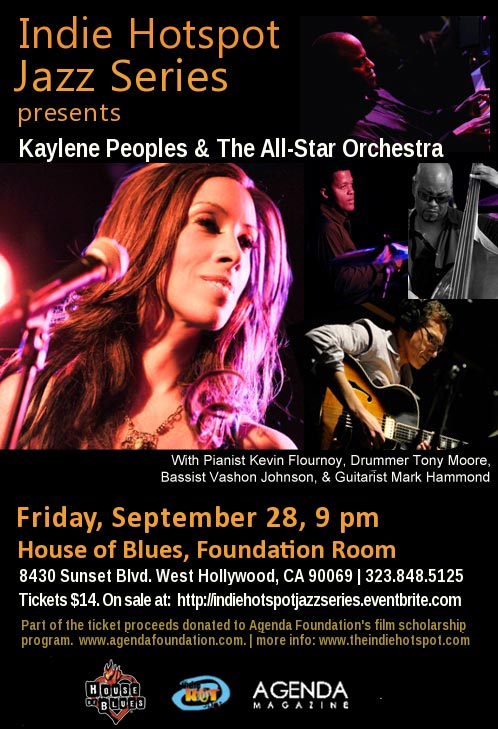 Indie Hotspot Jazz Series with Kaylene Peoples and the All-Star Orchestra