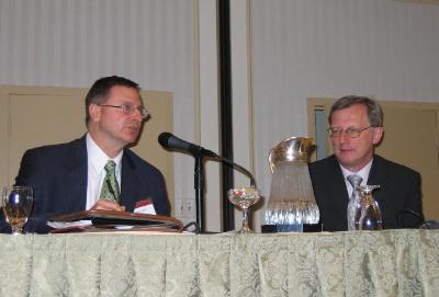 Speaker Dr. Huber in a panel discussion with FDA's Part 11 expert: George Smith