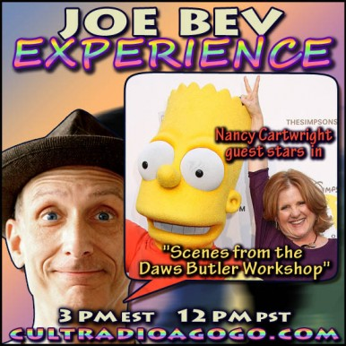 The Voice of Bart Simpson on The Joe Bev Experience - Saturday 3 pm ET on CRAGG