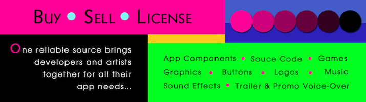 Sell, Buy & License App Source Code, Games, Music, Sound FX, & Graphics