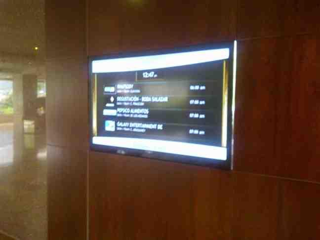 Cartelera Digital del Hotel Tamanaco