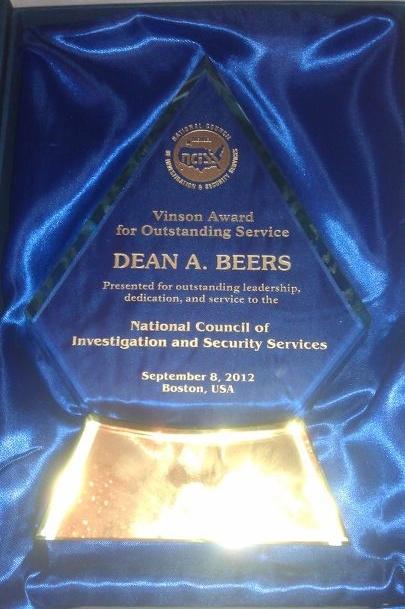 BEERS - NCISS Vinson Award 09082012