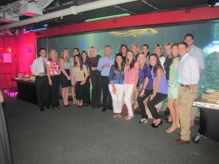 Power Design Employees at Florida Aquarium Unveiling Ceremony