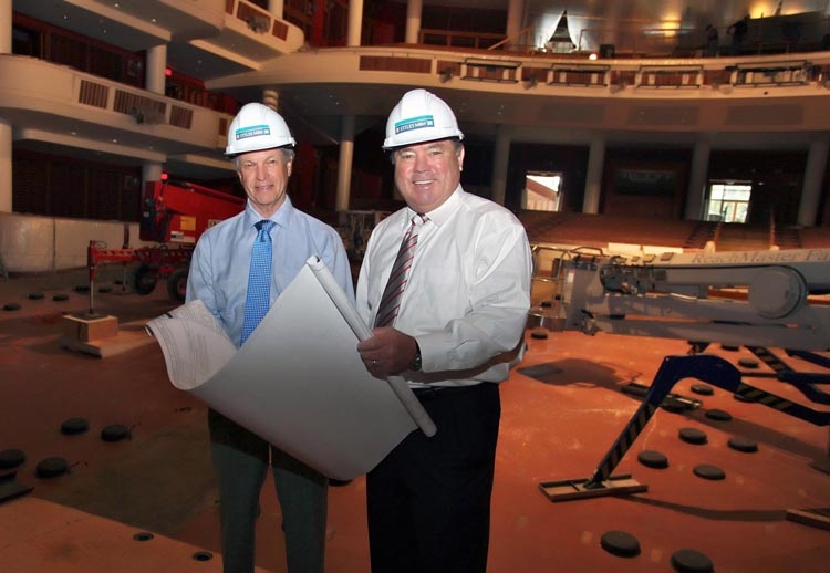 Tom Miller and Terry Stiles at the Broward Center for the Performing Arts