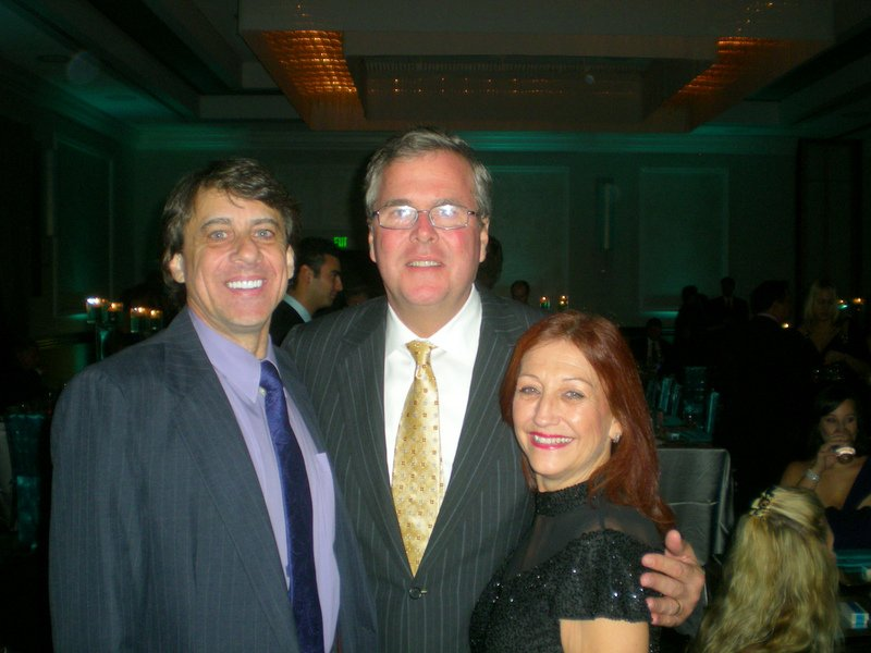 Angelo (Post Treatment) and Gari DiStefano at Annual CF Gala with Jeb Bush