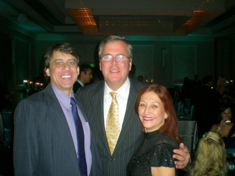 Angelo (Post Treatment) and Gari DiStefano at Annual CF Gala with Jeb Bush