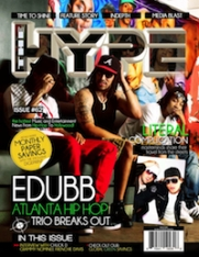 The Hype Magazine issue #62 feature cover Atlanta Hip Hop trio EDUBB