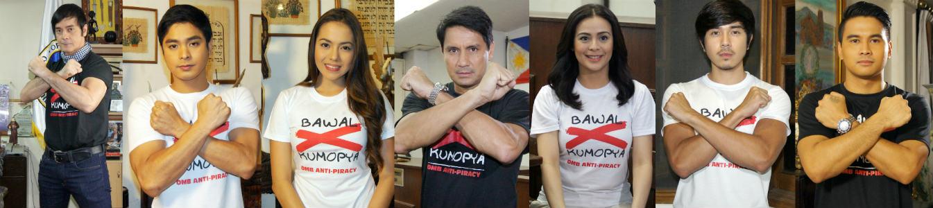 """OMB Chair Ricketts, TFC's """"Walang Hanggan"""" cast: """"No to Piracy, Bawal Kumopya"""""""