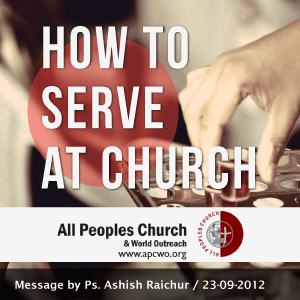 Watch Listen Download Audio and Video of Sermon from our website www.apcwo.org