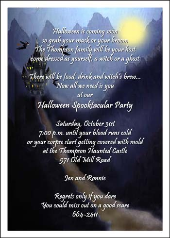 Halloween Invitation Cards