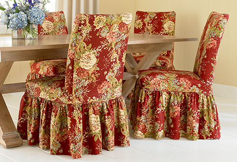 Ballad Bouquet Dining Chair Covers From Sure Fit And Waverly™