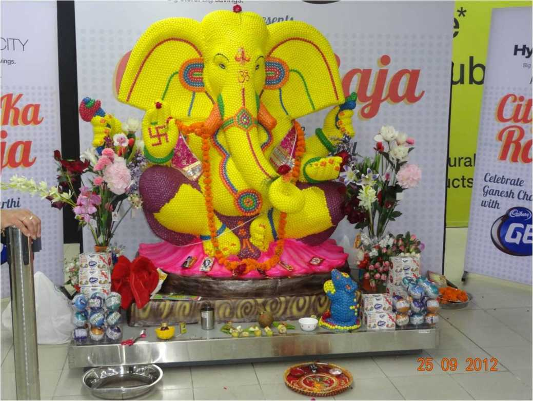2012 - Chocolate Ganeshji at AlphaOne - September