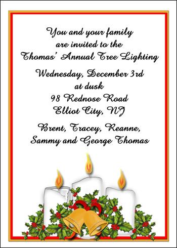 Christmas Invites