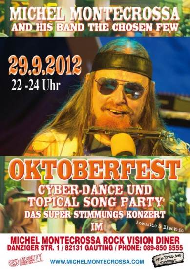Concert Poster - Michel Montecrossa's Oktoberfest Cyber Dance Concert