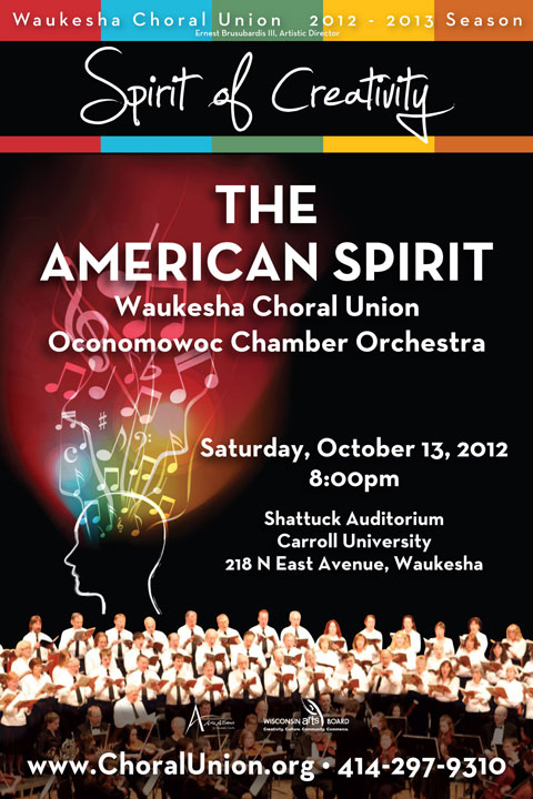 Waukesha Choral Union presents The American Spirit