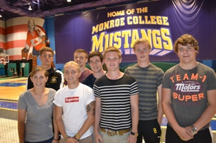 British soccer players studying at Monroe College