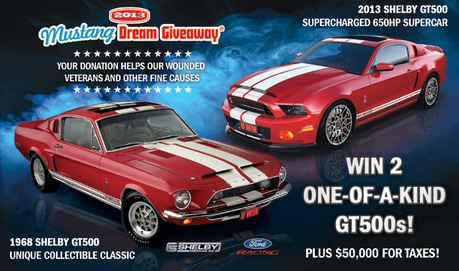 The 2013 Mustang Dream Giveaway Starts October 1, 2012