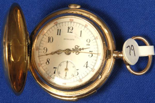 Dunand chronograph repeater pocket watch