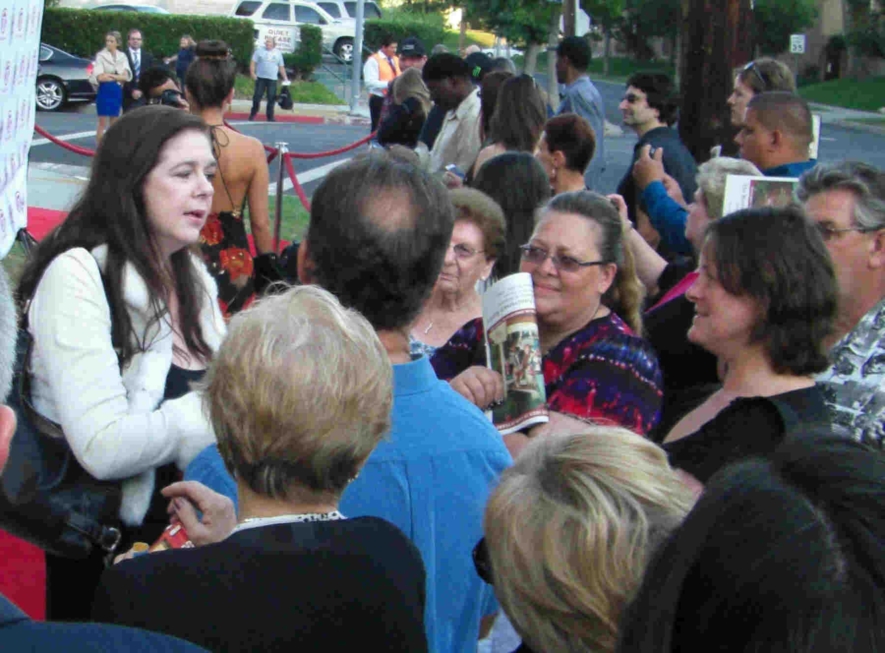 Walton's Child Star, Sally Boyden, is mobbed by her fans