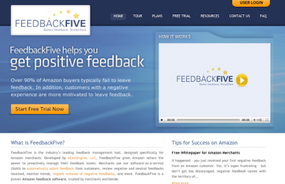 FeedbackFive Amazon Feedback Software