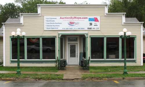 Mayo Auction building in Plattsburg