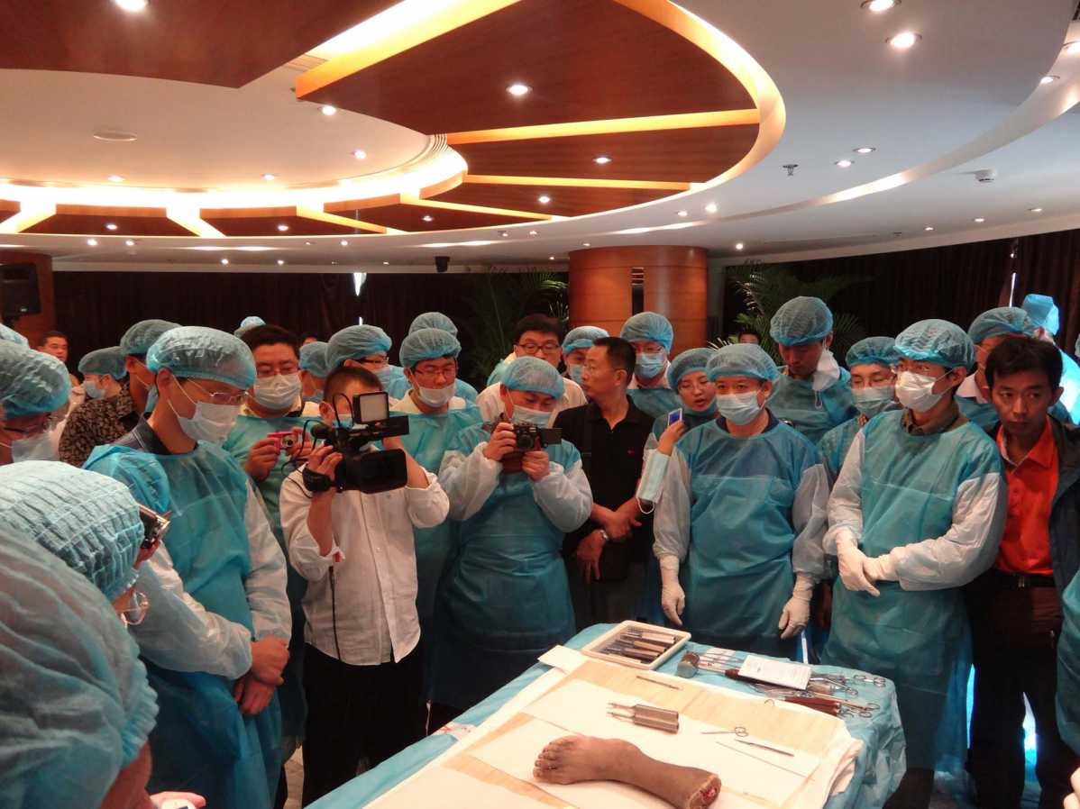 Foot and Ankle Surgeons at the First Foot Cadaver Course Ever Held in China.