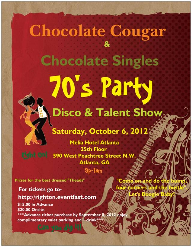 70s party flyer