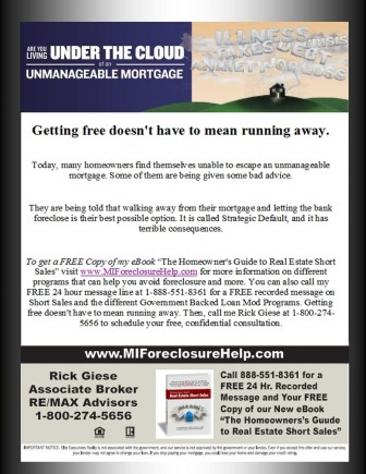 Call our FREE 24 Message Line 888-551-8361 for Short Sale Information