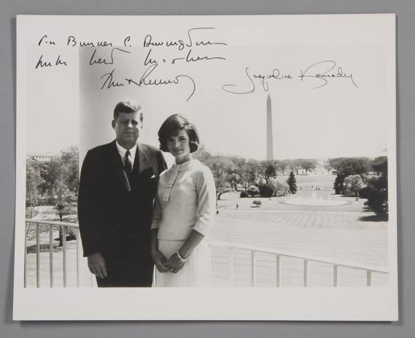 Photo signed by Jack and Jackie Kennedy