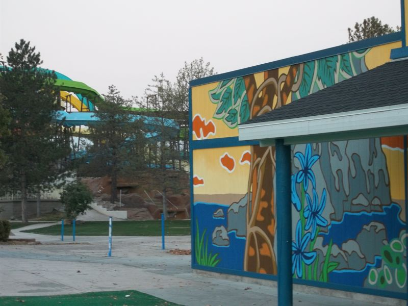 Detail of new Waterpark murals