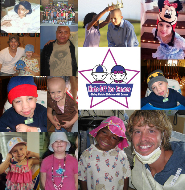 Collage of Hats Off For Cancer hat recipients