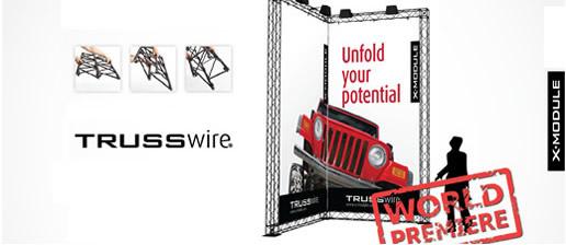 TRUSSwire Modular Stand Concept 200m2