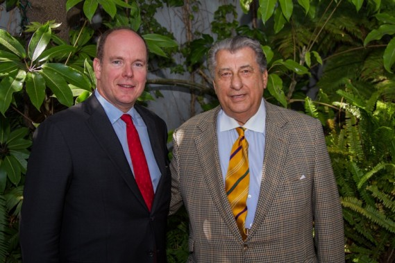 HSH Prince Albert of Monaco with Ted Balestreri, Sardine Factory co-owner/CEO