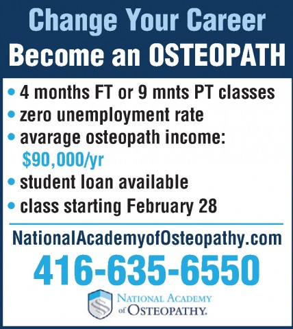 Ad- National Academy of Osteopathy