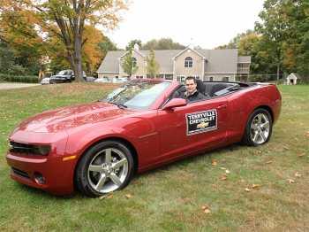 2013 red Chevrolet Camaro convertible