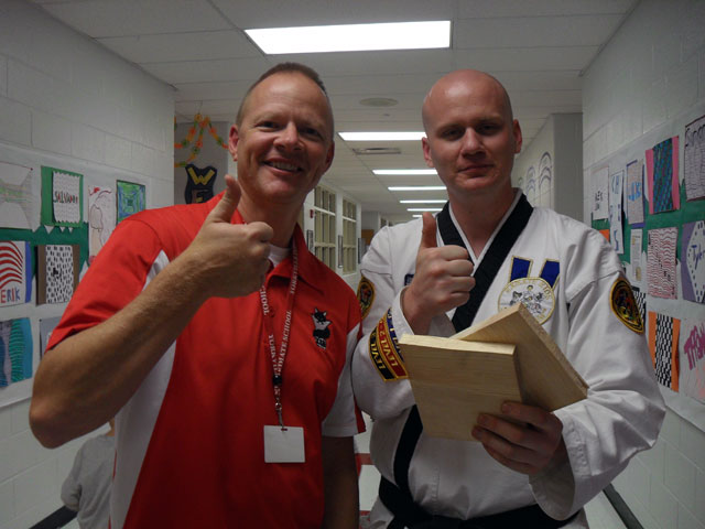 Principal Mr. Bjork with Mr. Zorn