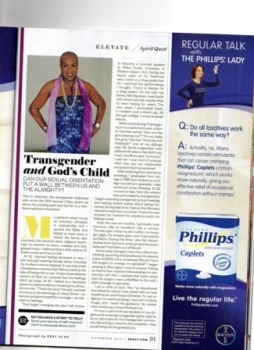 Transgender Author Toni Newman Ebony Magazine Nov. 2012