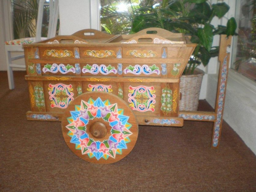 This unique oxcart is one of the items for sale at the LIFE Academy fundraiser.