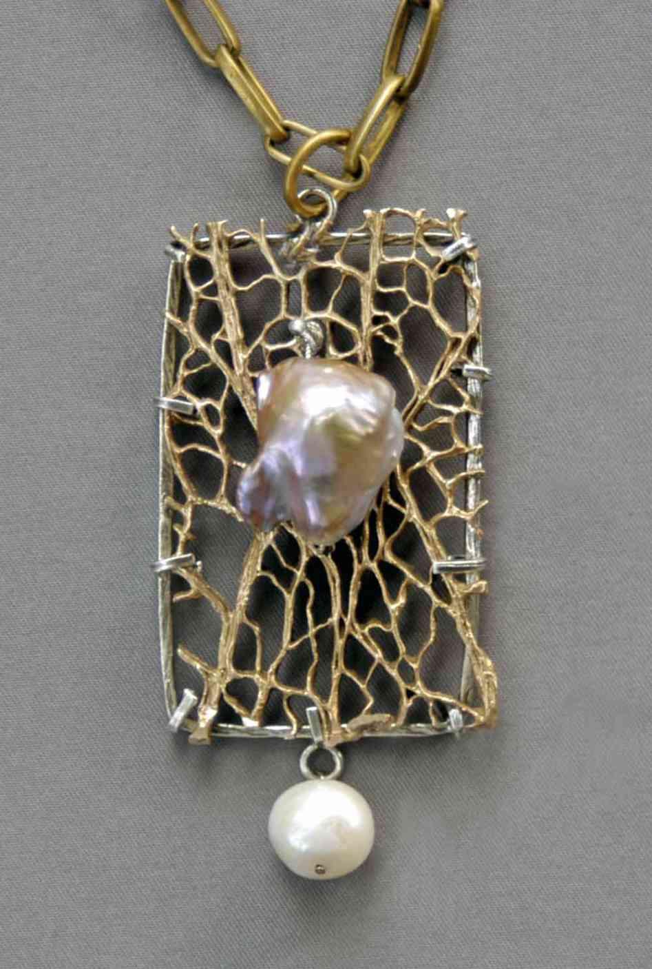 Pearl on a Web of Bronze by Mirinda Kossoff