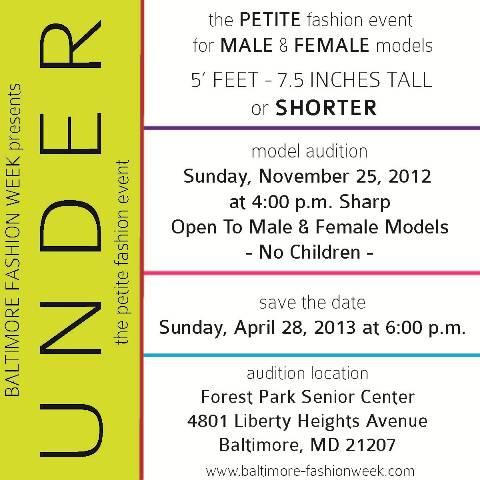 UNDER the petite fashion event - save the date