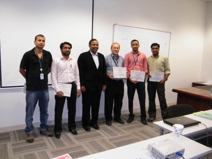 Mr. Devang Jhaveri is giving ISO/IEC 17025 training certificate to participants