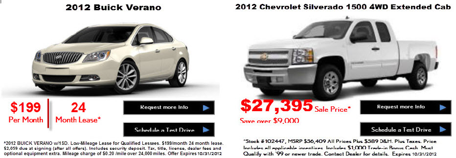 Buick Verano and Silverado Wray Colorado Specials