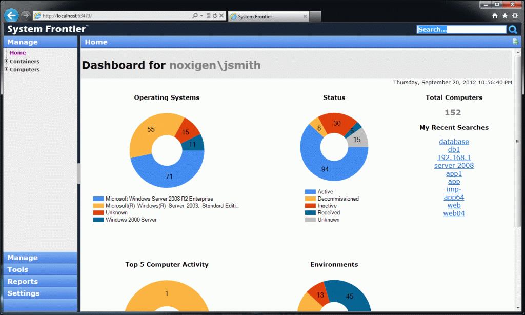 System Frontier v1.0 Dashboard