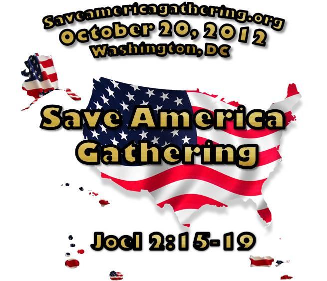 Save America US Flag promo logo