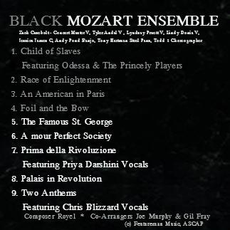 BLACK MOZART Album Cover Back