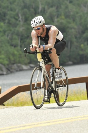 Office for the Aging Director Ken Genewick in his first Ironman Triathlon