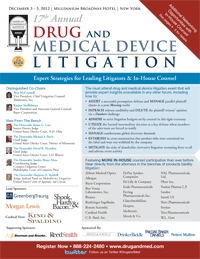 Brochure - Drug & Med Device Litigation